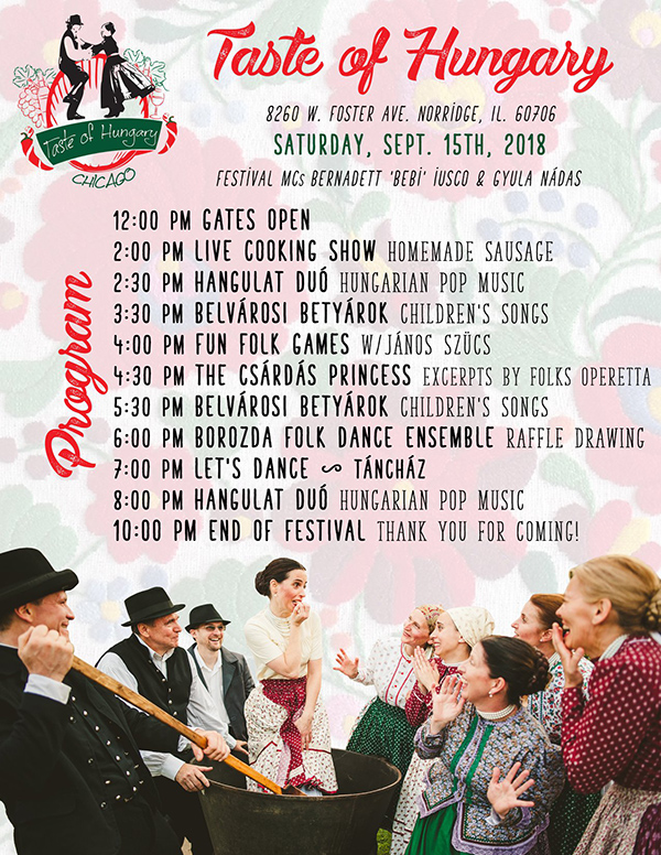 Taste of Hungary 2018 Program